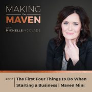 The First Four Things to Do When Starting a Business